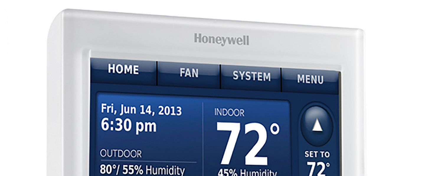 A thermostat controlling a Sioux Falls, SD HVAC system